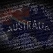 Australia map from text — Stock Photo #9240959