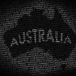 Australimap from text — Stockfoto #9240975