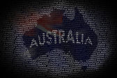 Australia map from text — Stock Photo