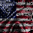 Stock Photo: Word cloud formed from cities of USA