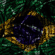 Word cloud formed from the cities of  Brazil — Stock fotografie