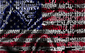 Word cloud formed from the cities of USA — Stock Photo