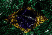 Word cloud formed from the cities of Brazil — Stock Photo