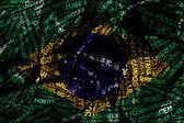 Słowo chmura powstała z miasta brazylii — Zdjęcie stockowe