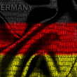 Word cloud of Germany cities — Stock Photo