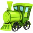 Stock Photo: Green toy train