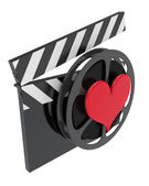 Favorite movie icon — Stock Photo