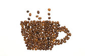 Cup made of coffee beans — Stock Photo