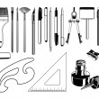 Vector Art Supplies — Stock Vector