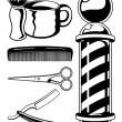 Stock Vector: Vector Barbershop Graphics
