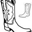 Vector Boot - Stock Vector