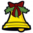 Holiday Bell Graphic — Stock Vector