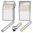 Stock Vector: Cigarette Vector Graphics