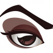 Vector Female Eye Graphic — Stock Vector