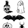 Five Halloween Vector Graphics — Stock Vector