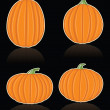 Four Vector Pumpkins — Stock Vector