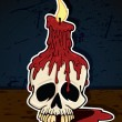Skull with Candle — Vector de stock
