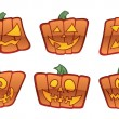 Jack O'Lantern Icons — Stock Vector
