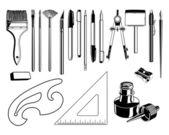 Vector Art Supplies — Stock Vector