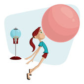 Bubblegum Girl — Stock Vector