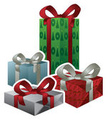 Vector Christmas Gifts — Stock Vector