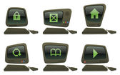 Cartoon Computer Icons III — Wektor stockowy