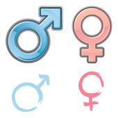 Vector Gender Symbols — Stock Vector