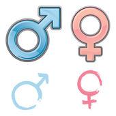 Vector Gender Symbols — Stock Vector
