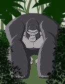 Gorilla Illustration — Stock Vector