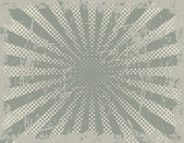 Vector Halftone Background of Rays — Stockvector