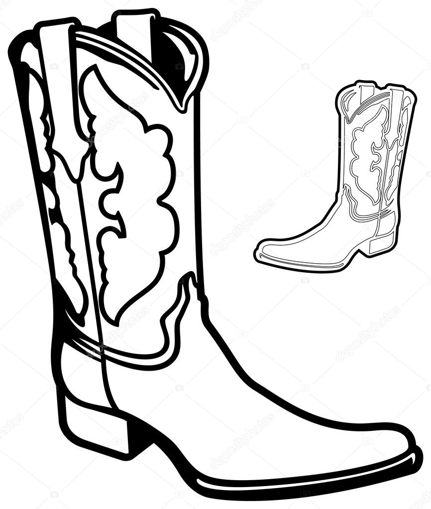 holiday coloring pages cowboy boot coloring page free