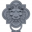 Lion Head Door Knocker Vector — Stock Vector