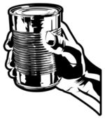 Holding a Tin Can — Stock Vector