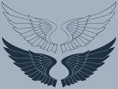 Vektor křídla grafiky — Stock vektor