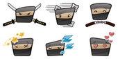Vector Ninja Icons — Stock Vector