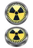 Radioactive Icons — Stock Vector