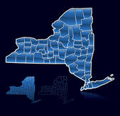 Counties of New York — Stock Vector