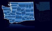 Counties of Washington — Stock Vector