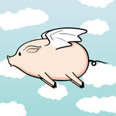 When Pigs Fly — Stock Vector