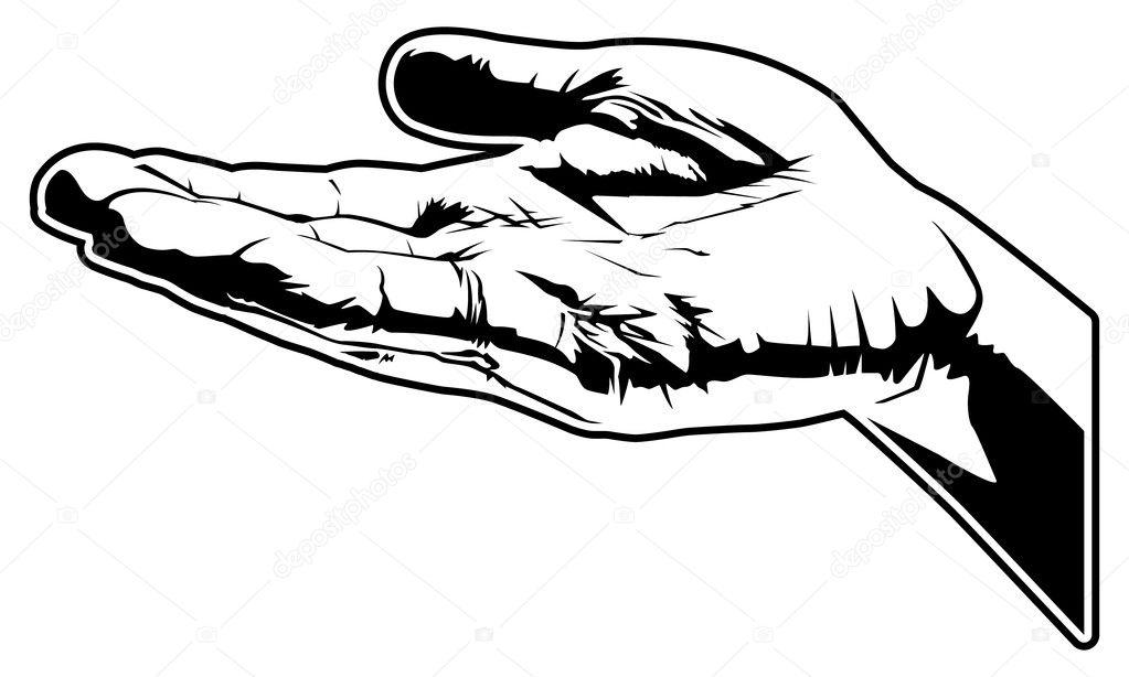 这是举行了手矢量图– 图库插图