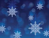 Vector Snowflake Background — Stock Vector