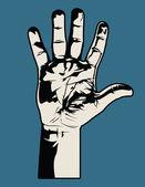Grafika otwartej dłoni — Wektor stockowy