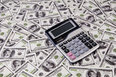 Money and calculator — Stock Photo