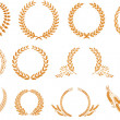 Royalty-Free Stock Vector Image: Laurel wreath pattern