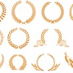 Laurel wreath pattern — Stock Vector