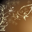 Royalty-Free Stock Imagen vectorial: Golden floral design