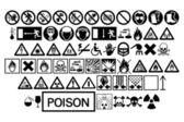 Various warning signs — Stock Vector