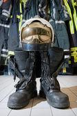 Bootz y casco — Foto de Stock