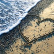 Stock Photo: Heart on beach