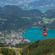 Royalty-Free Stock Photo: Cableway near Wolfgangsee